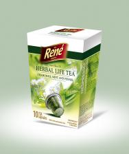 Τσάι σε κάψουλες Rene Herbal Life - Camomile, Mint, Fennel 10 caps