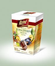 Τσάι σε κάψουλες Rene Plum & Cinnamon 10 caps