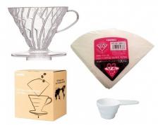 Hario V60 Pour Over Kit - dripper + filters - Σετ Εκχύλισης Καφέ