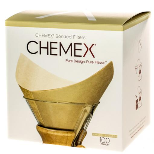 Chemex 100 prefolded unbleached filter square- Chemex χάρτινα